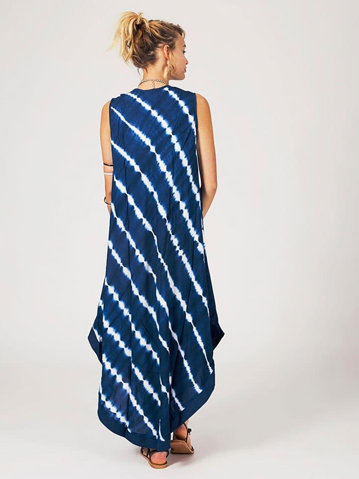 Ipanima Kleid in Blau/ Weiß