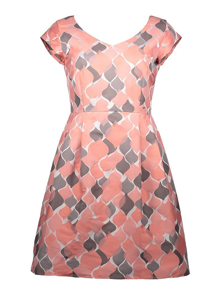 TAIFUN Kleid in Koralle/ Grau