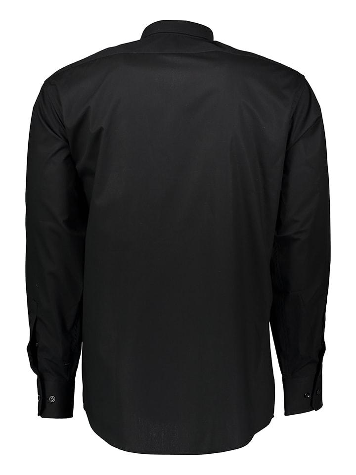 Schiesser Hemd in Schwarz