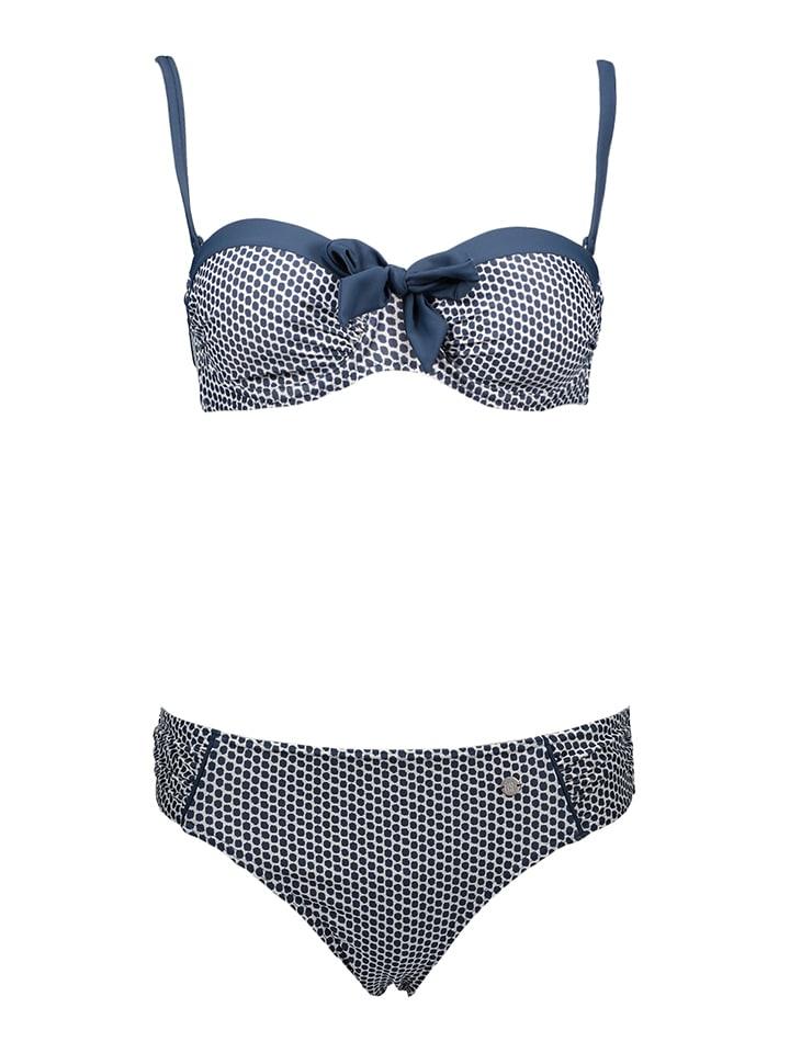 Schiesser Bikini in Blau/ Weiß