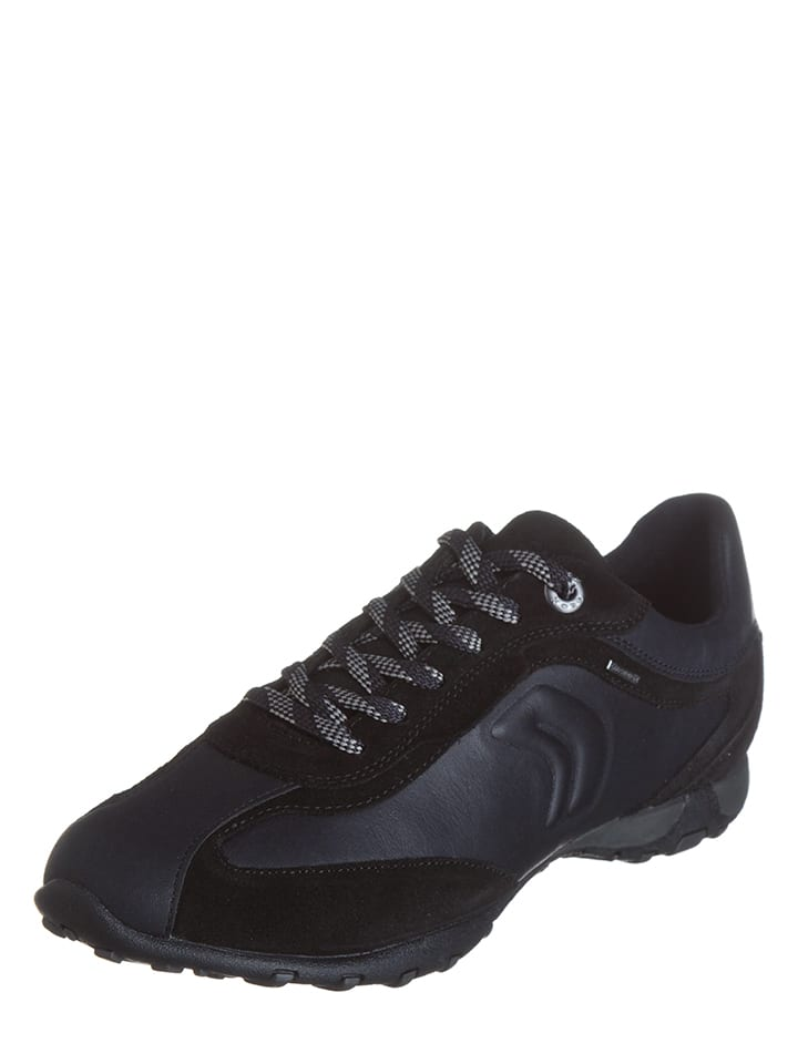 "Geox Leder-Sneakers ""Freccia"" in Schwarz"