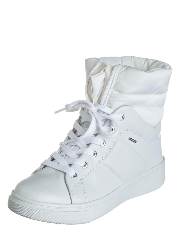 """Geox Leder-Sneakers """"Mayrah"""" in Weiß"""
