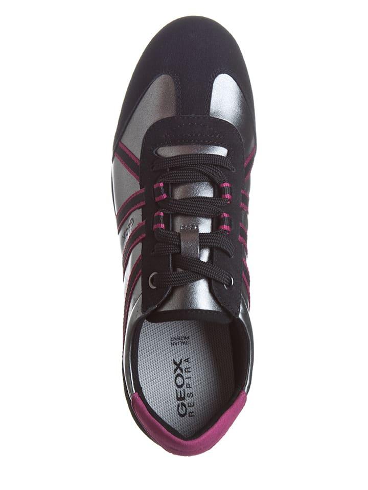 "Geox Sneakers ""Ravex"" in Schwarz/ Silber"