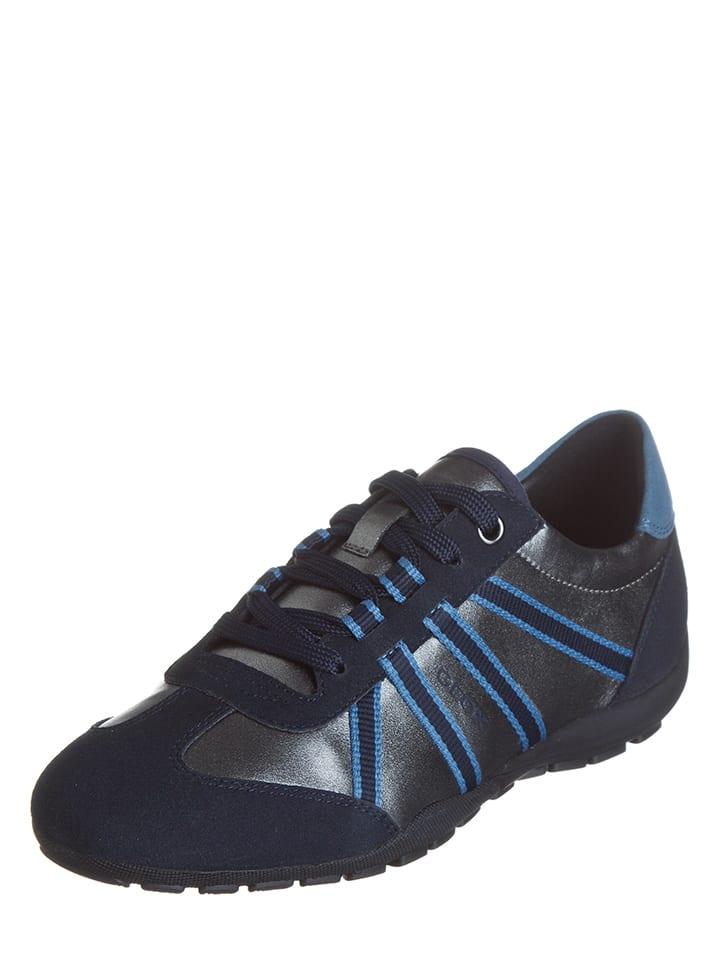 """Geox Sneakers """"Ravex"""" in Dunkelblau/ Silber"""