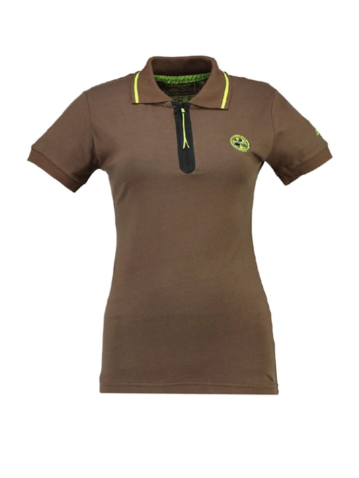 """Geographical Norway Poloshirt """"Kwartz"""" in Taupe"""