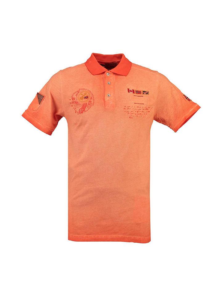 "Geographical Norway Poloshirt ""Katypique"" in Orange"