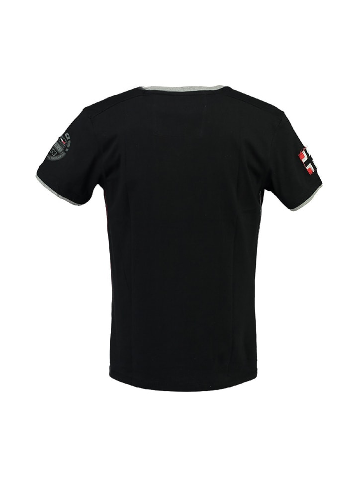 "Geographical Norway Shirt ""Jalopark"" in Schwarz"