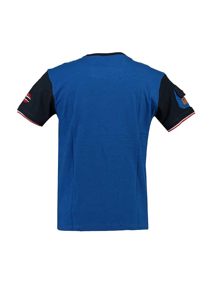 "Geographical Norway Shirt ""Jeradok"" in Blau"