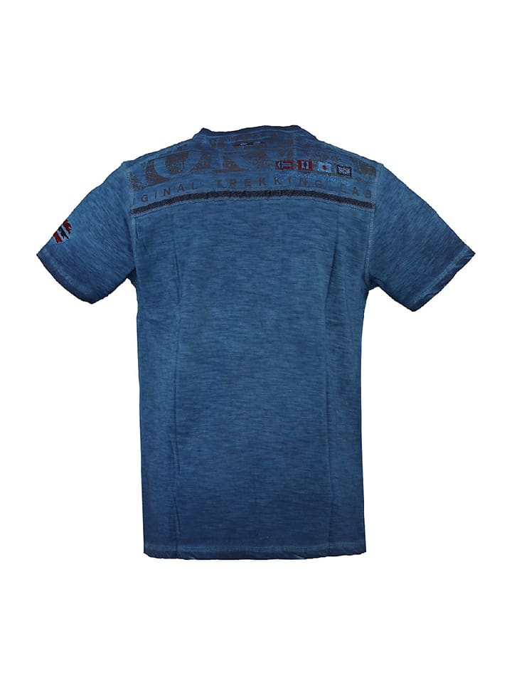 "Geographical Norway Shirt ""Jespote"" in Blau"