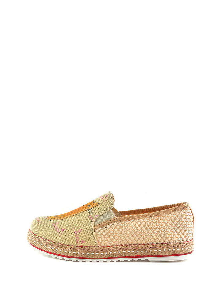 Goby Espadrilles in Beige/ Orange
