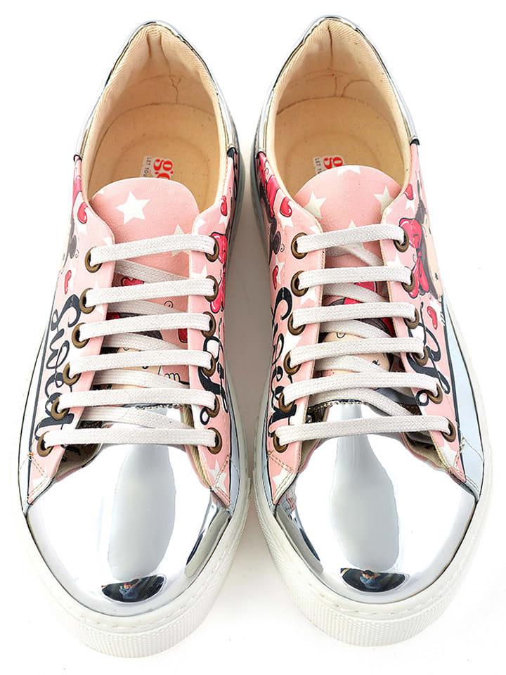 Goby Sneakers in Rosa/ Hellblau/ Silber