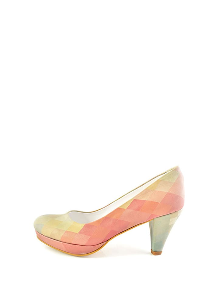 Goby Pumps in Beige/ Rosa