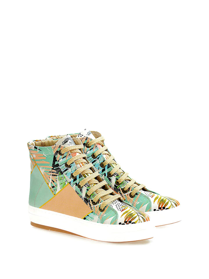 Goby Sneakers in Mint/ Beige/ Bunt