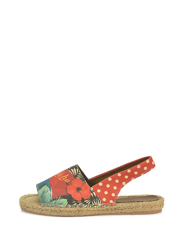 Sundias Sandalen in Rot/ Bunt
