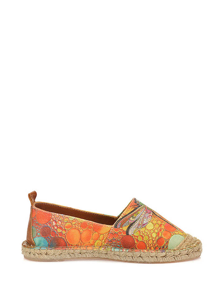 Sundias Espadrilles in Orange/ Bunt