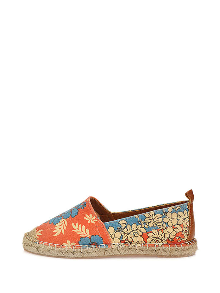 Sundias Espadrilles in Blau/ Orange
