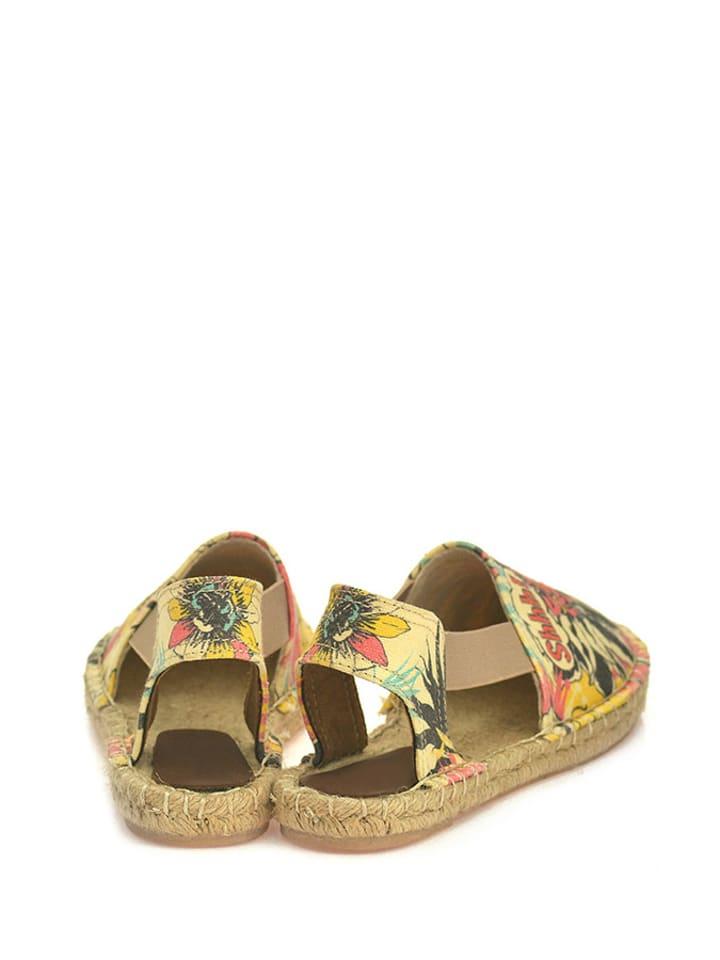 Sundias Sandalen in Beige/ Bunt