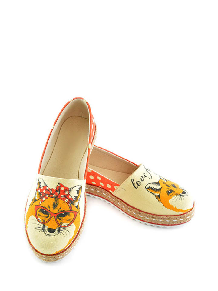 Sundias Espadrilles in Beige/ Orange