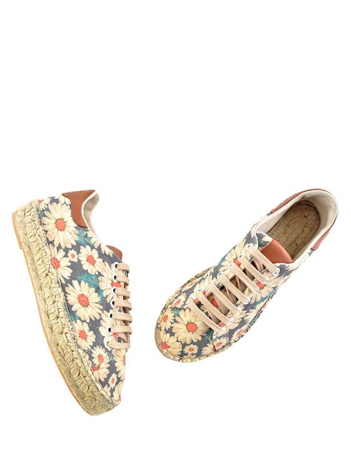 Sundias Sneakers in Beige/ Blau