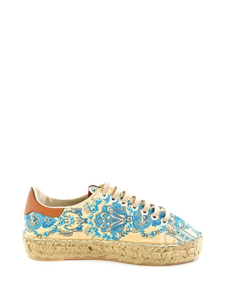 Sundias Sneakers in Beige/ Hellblau