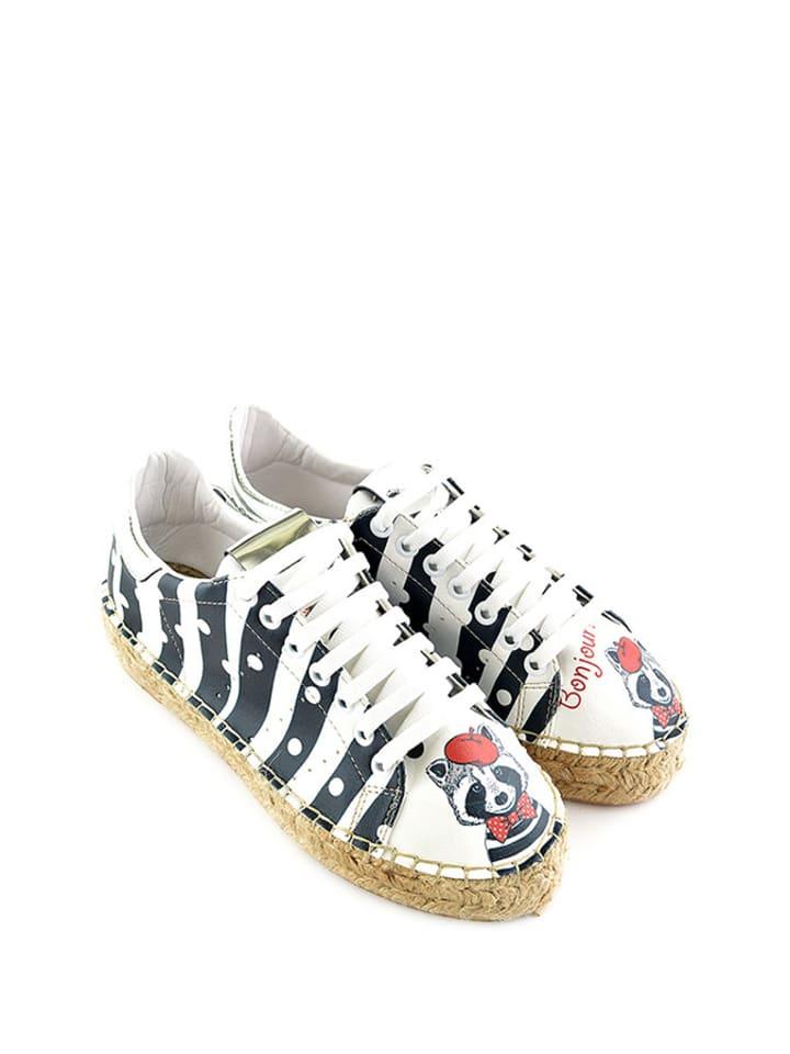 Sundias Sneakers in Weiß/ Dunkelblau