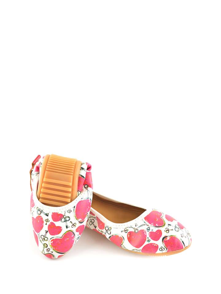 Raspberry Raspberry Ballerinas  in pink_weiß