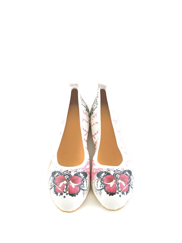 Raspberry Raspberry Ballerinas  in weiß