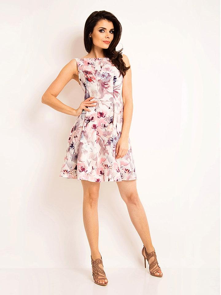 Awama Kleid in Rosé/ Bunt