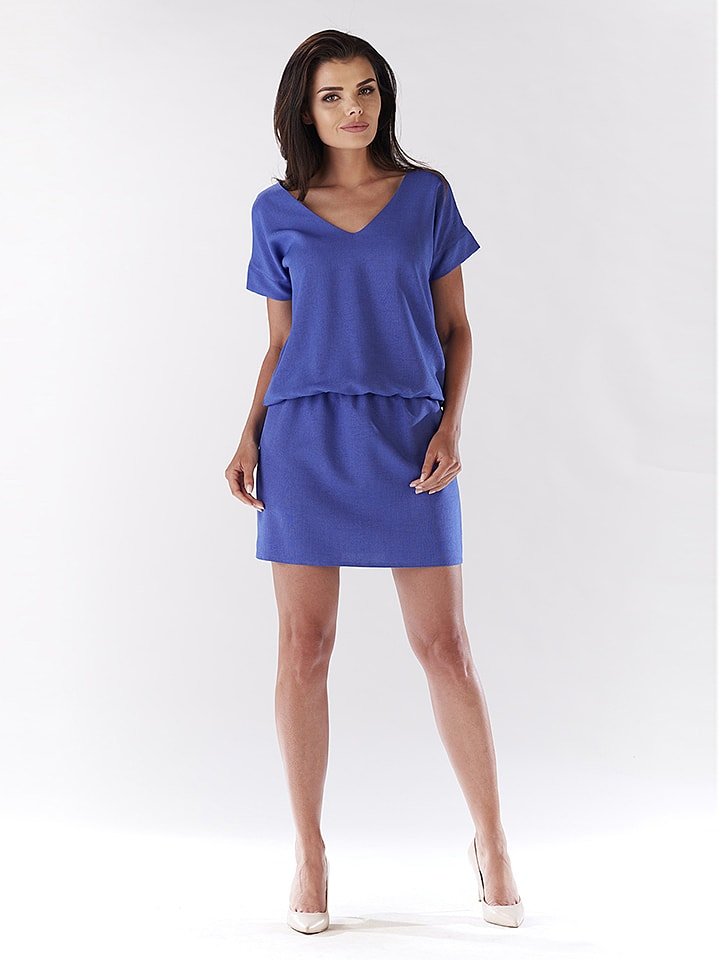Awama Kleid in Blau