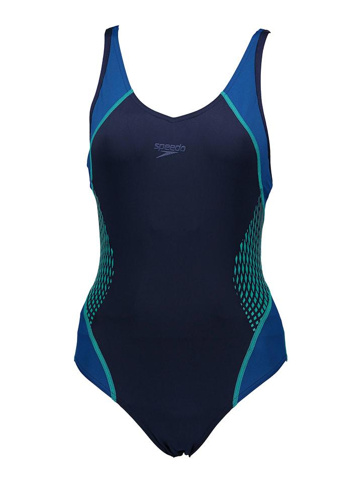 Speedo Badeanzug in Blau/ Türkis