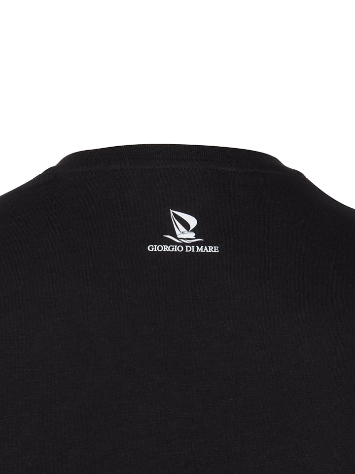 GIORGIO DI MARE Shirt in Schwarz/ Weiß