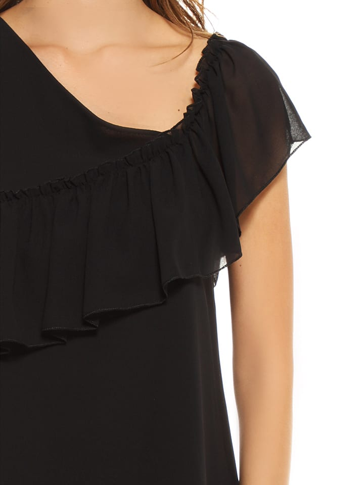 "French Code Top ""Fougass"" in Schwarz"