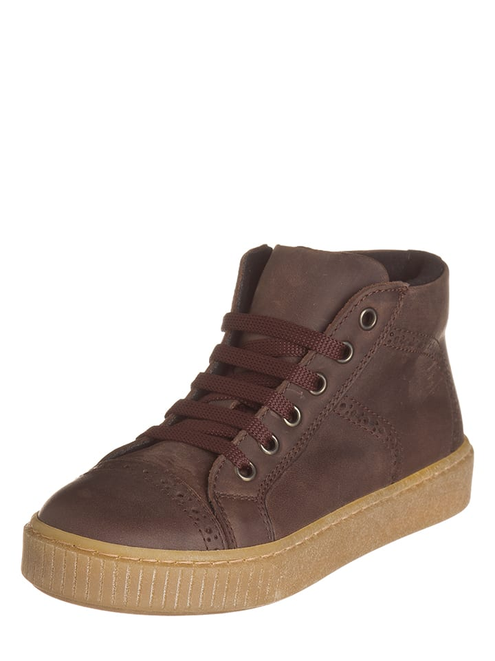 EXK Leder-Sneakers in Braun