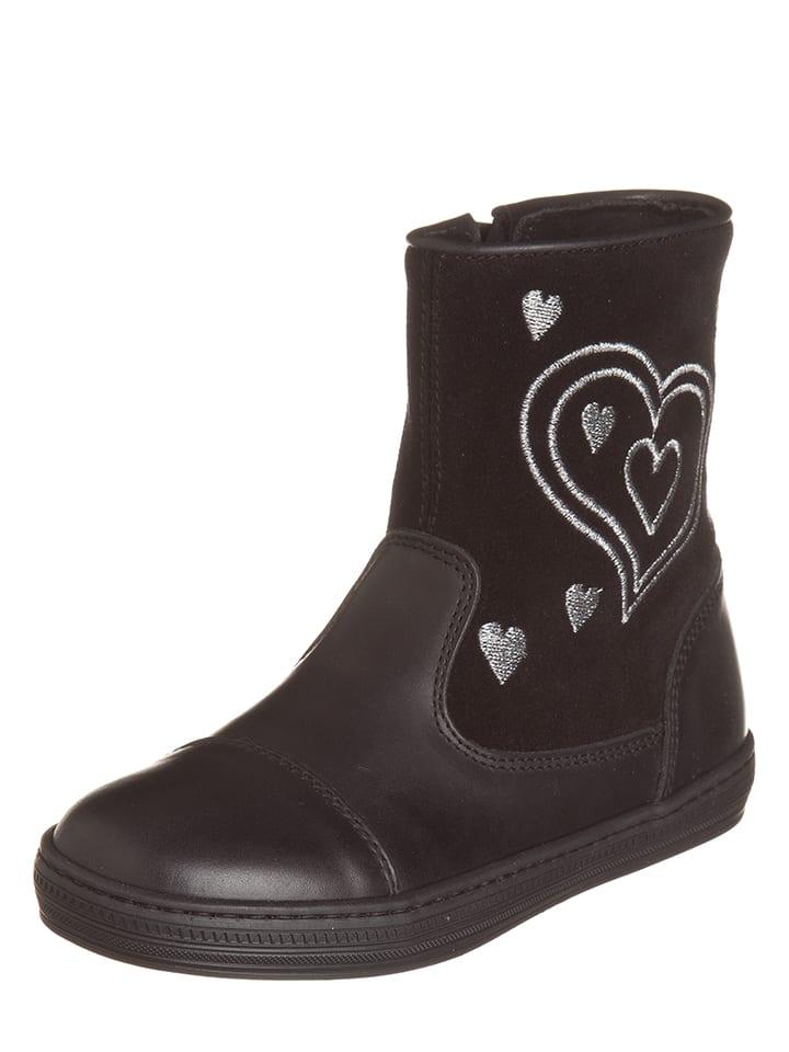 EXK Leder-Boots in Schwarz