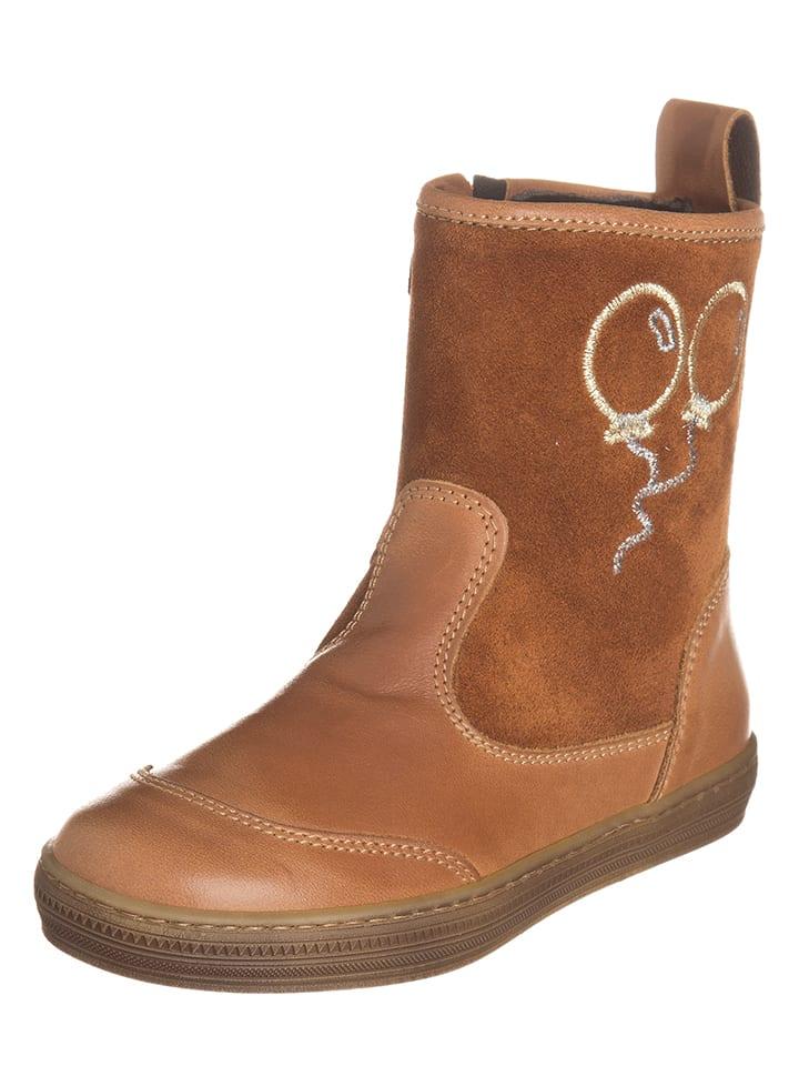 EXK Leder-Boots in Hellbraun