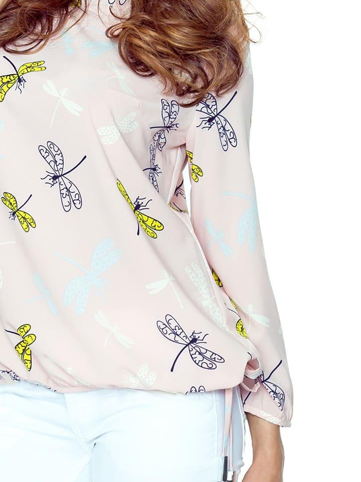 BERGAMO Shirt in Rosa/ Bunt