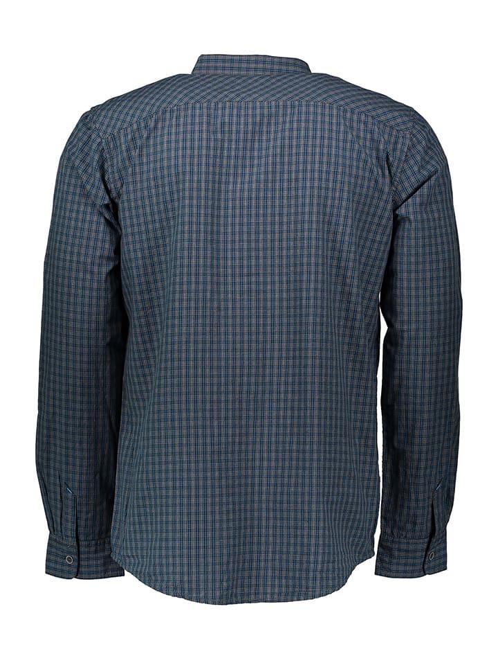 Tom Tailor Hemd in Dunkelblau/ Grau