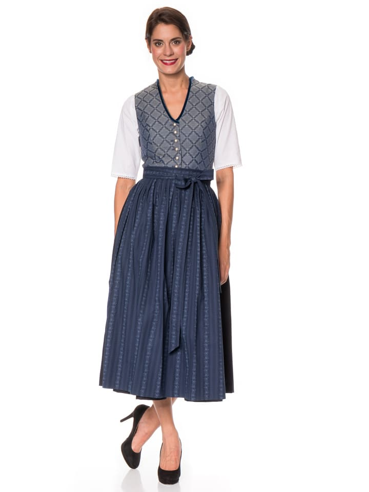 berwin und wolff maxi dirndl in blau dunkelblau. Black Bedroom Furniture Sets. Home Design Ideas