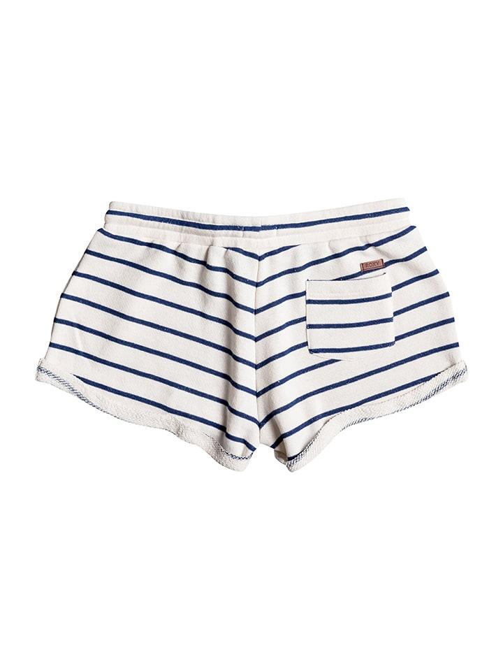 "Roxy Shorts ""Signature Stripe"" in Creme/ Dunkelblau"