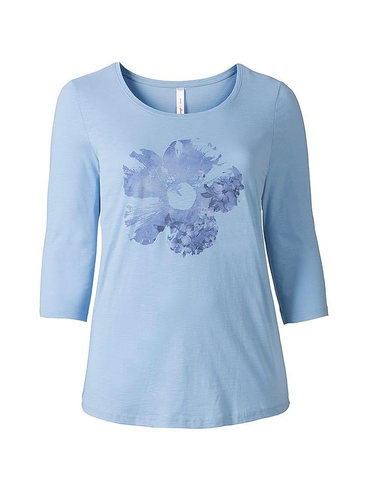 Sheego Shirt in Hellblau