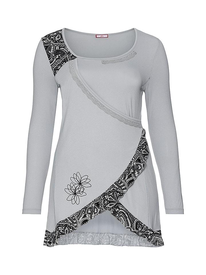Sheego Shirt grijs/zwart