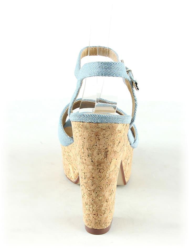 C'M Sandaletten in Hellblau