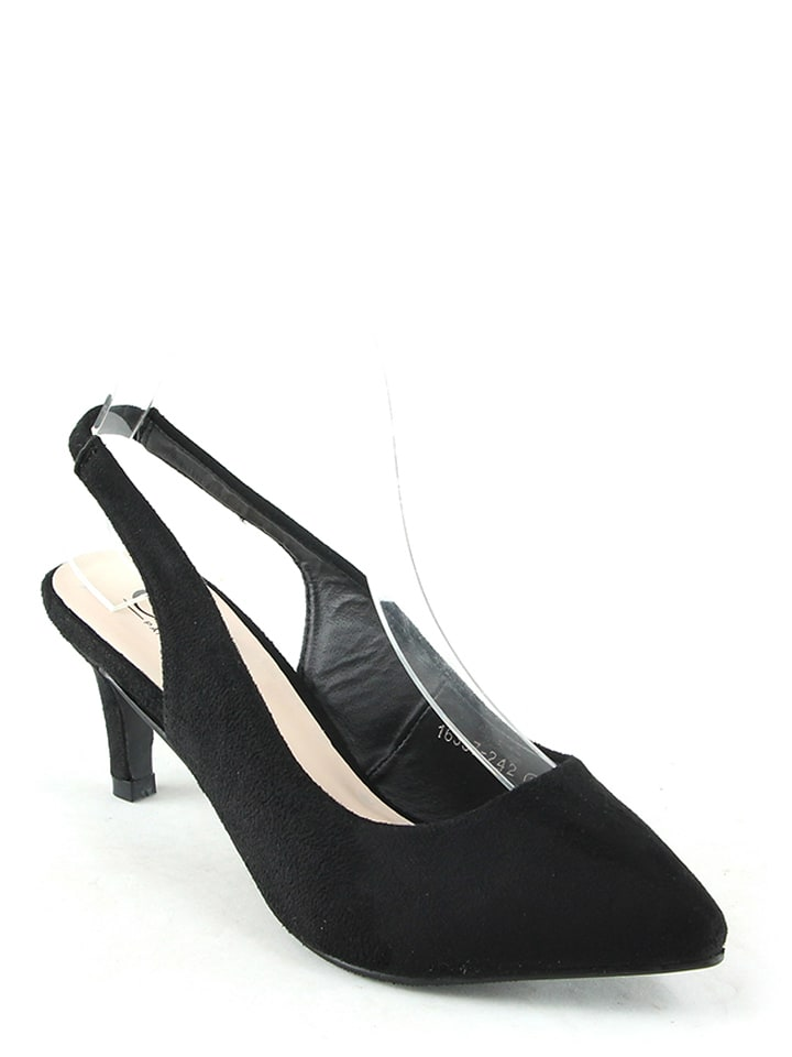 C'M Slingpumps in Schwarz