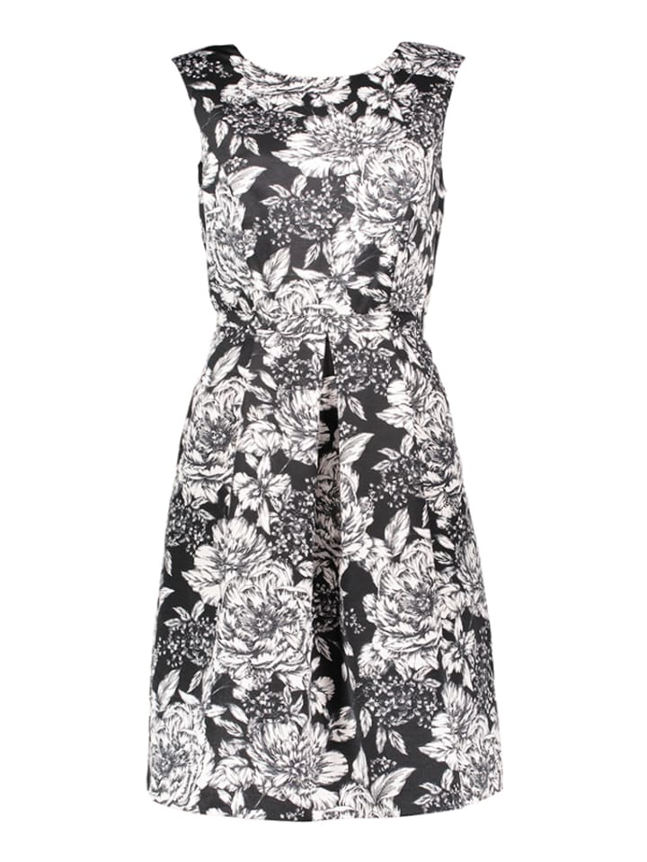 Adrianna Papell Kleid in Schwarz/ Weiß