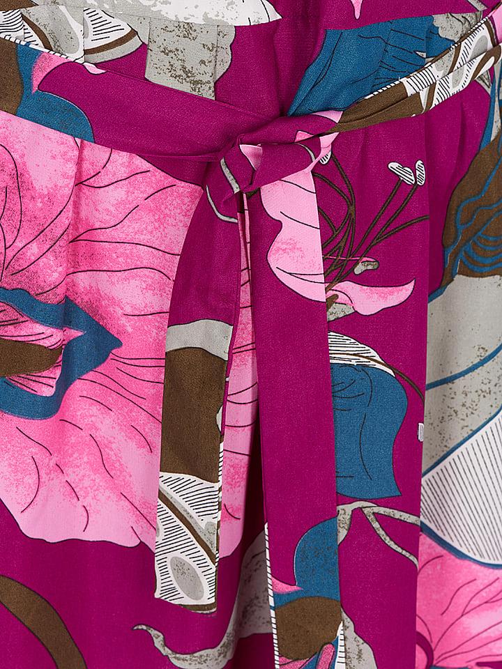 Zizzi Kleid in Fuchsia/ Rosa/ Grau