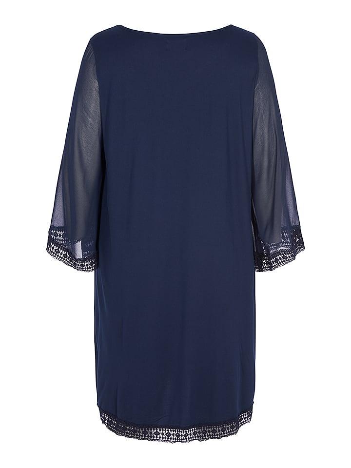 Zizzi Kleid in Dunkelblau