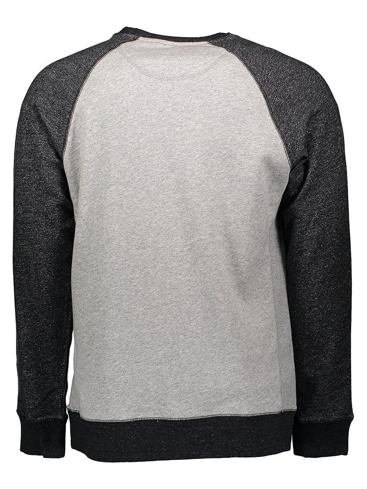 """Burton Sweatshirt """"Lost&Found Crew"""" in Hellgrau/ Schwarz"""