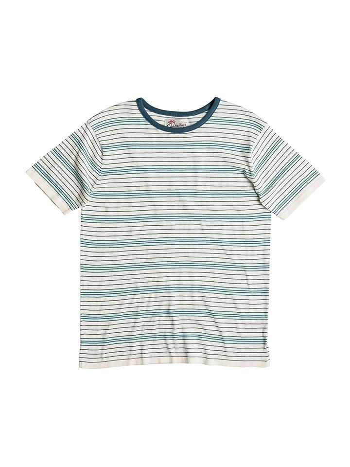 """Quiksilver Shirt """"Cheermate"""" in Weiß/ Hellblau"""