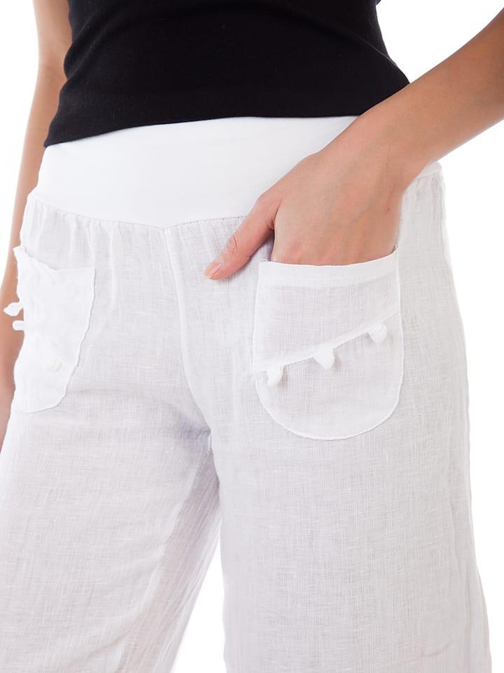 Lin Passion Leinen-Hose in Weiß