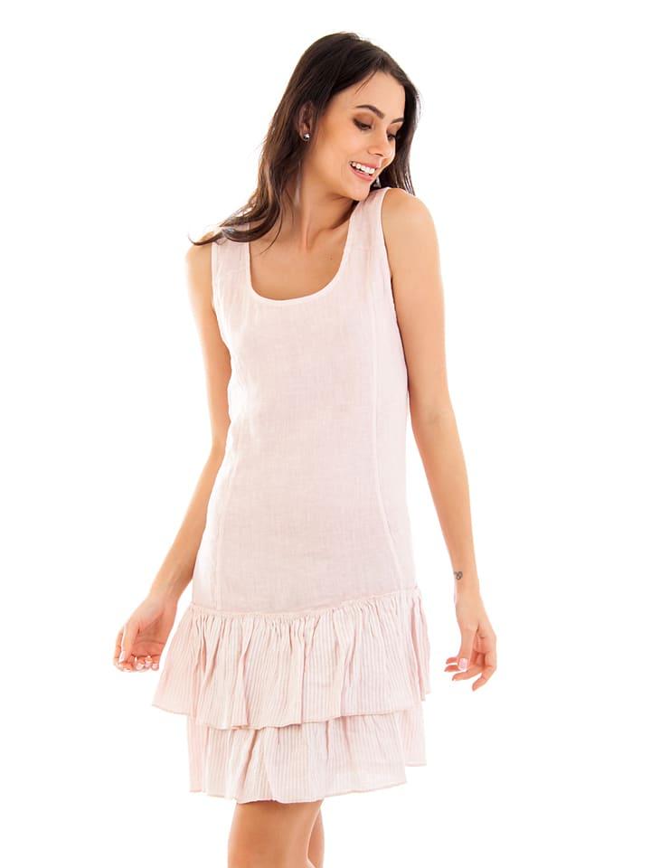 Lin Passion Leinen-Kleid in Rosa